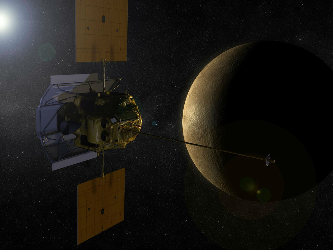 nasa-messenger-probe-mercury-approach
